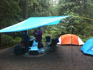 Using a Tarp with Your Tent Stay Dry