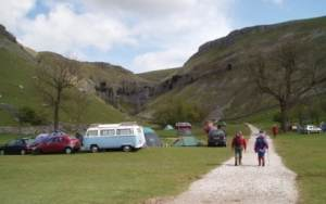 Gordale Scar campsite - basic but beautiful.