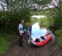rented kayak