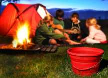 pack-away silicone camping bucket