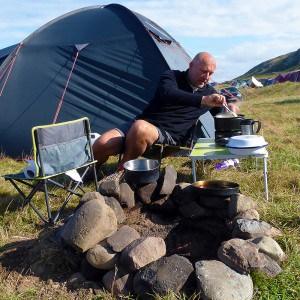 Camping and cooking with Andy Stevenson