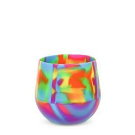 Ahi- Bulk Custom Printed Flexible Silicone Wine Glasses