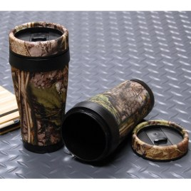 Deer- Custom bulk camo travel mug with double wall insulation