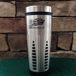 Grizzly - Bulk Custom Stainless Steel Travel Mugs with Rubber Grips