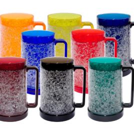 Bulk Custom Printed 16oz Double Walled Gel Freezer Mug