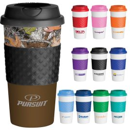 Bonobo- Custom bulk printed classic reusable coffee cup with twist on lid