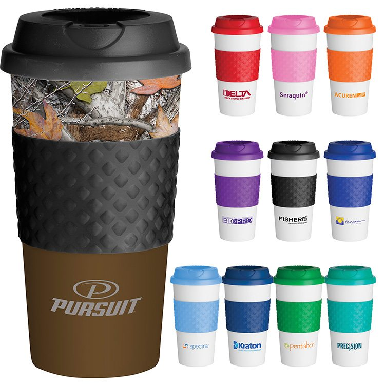 Bonobo Custom Bulk Printed Classic Reusable Coffee Cup With Twist On Lid