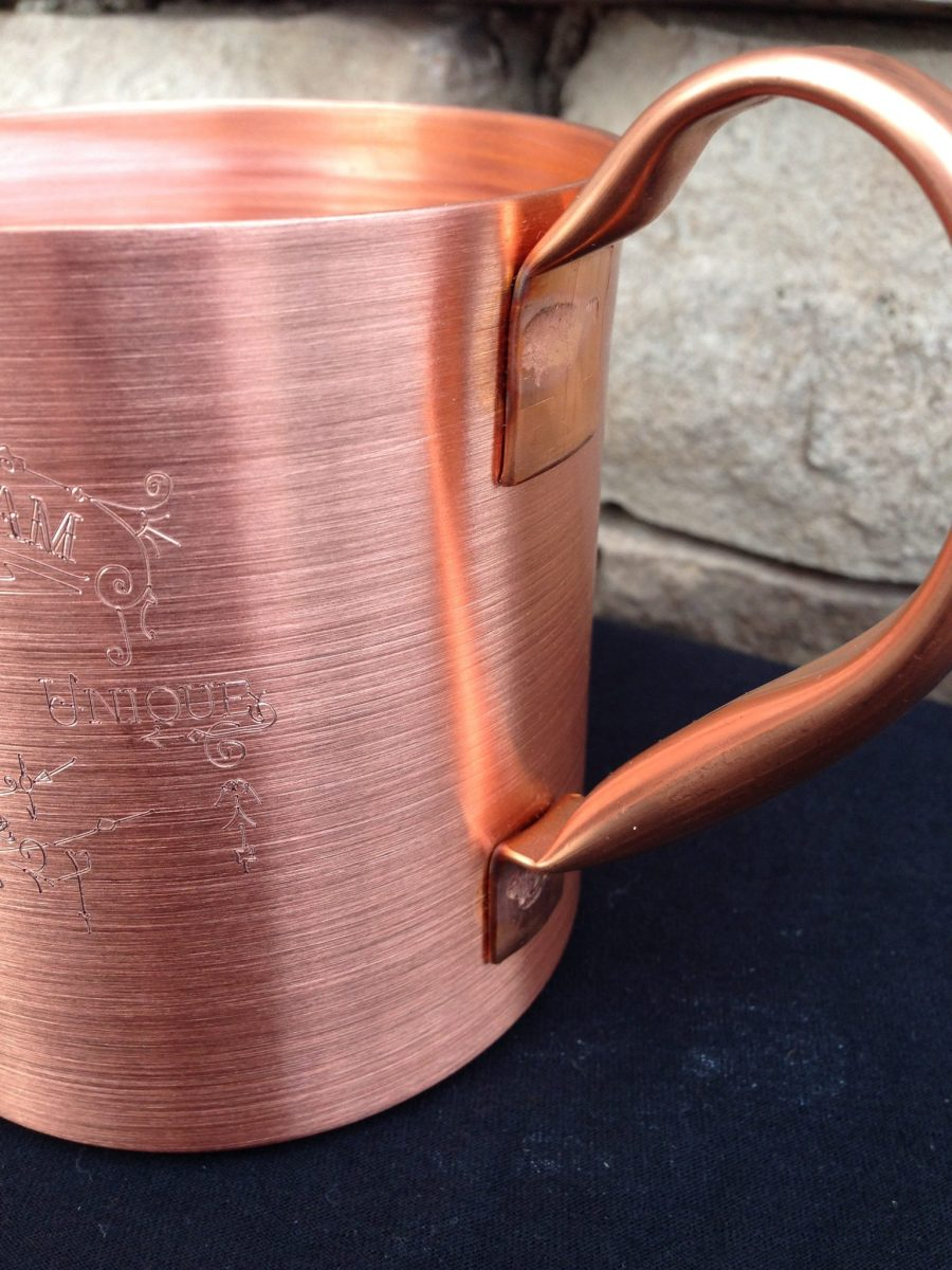Hinny Bulk Custom Engraved 18oz Solid Copper Moscow Mule Mug