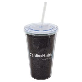 Macaw- Bulk Custom Printed 16oz Glitter Acrylic Tumbler with Straw