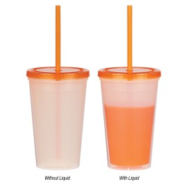 Marmot- Bulk Custom Printed 16oz Color Change Tumbler with Straw