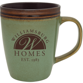 Willow- Bulk Custom Printed 14oz Hand Dipped Reactive Glaze Coffee Mug