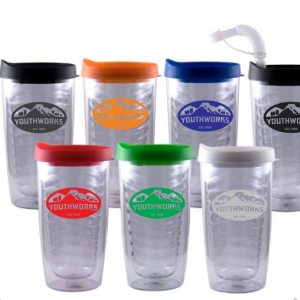 Wallaby- Bulk Custom Printed Double Wall Tumbler with Splash-proof Lid