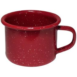 Cabin Mug-4oz Enameled Steel Campfire Mugs, speckled, vintage, western, tin cups