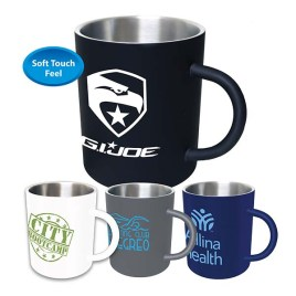Camporee- Bulk Custom Printed Stainless Steel Rubber Coated Mug