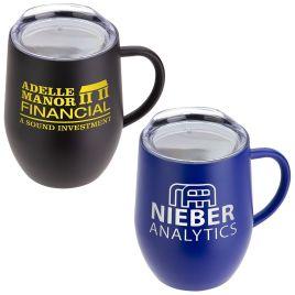Capybara- Bulk Custom Printed 12oz Vacuum Insulated Ceramic Inside-Coated Coffee Mug