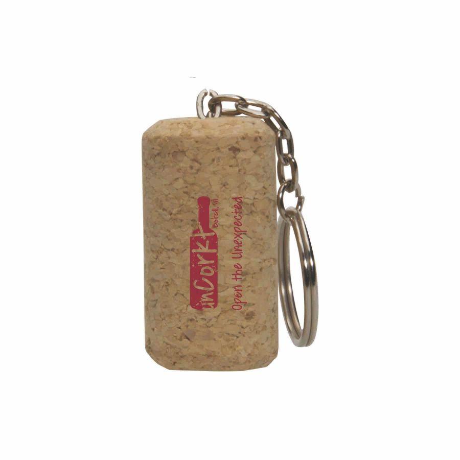 wine cork keychaing