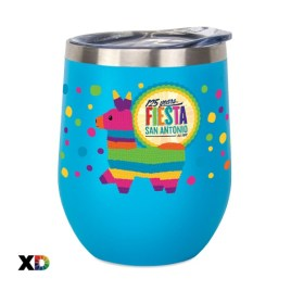 Begonia- Bulk Custom Full Color Printed 12oz Stainless Steel Stemless Wine Glass