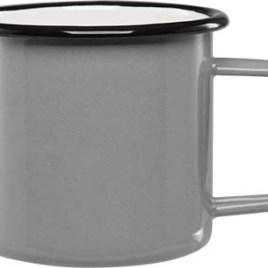 Country Cup- Bulk Custom Printed 16oz Enameled Steel Cup with Black Rim