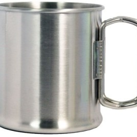 Outpost Jr- Bulk Custom Printed 10oz Stainless Steel Camping cup w/foldable handle