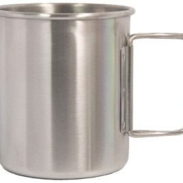 Outpost- Bulk Custom Printed 14oz Stainless Steel Camping cup w/foldable handle