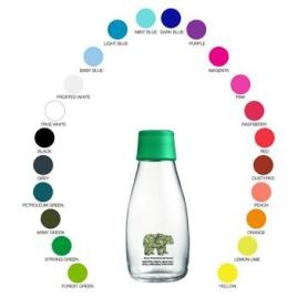 RETAP-10 ounce Retap clear glass bottle