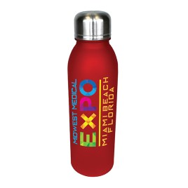 Bulk Full Color Printed 25oz Tritan Water Bottle with Stainless Lid