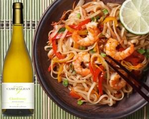 Chardonnay & Nouilles aux Crevettes