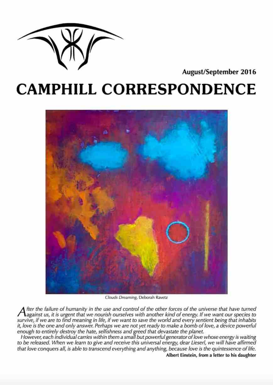 Camphill Correspondence August/September 2016
