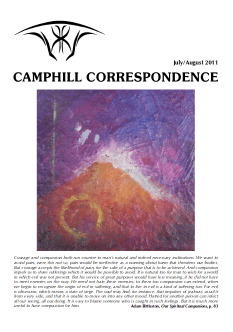 Camphill Correspondence July/August 2011