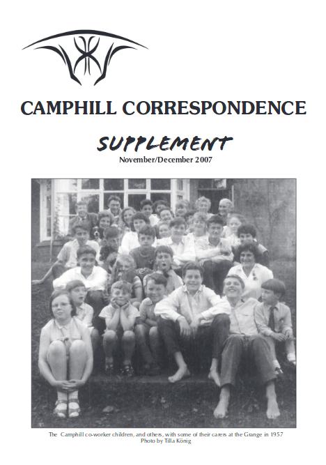 Camphill Correspondence November/December 2007