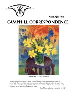 Camphill Correspondence March/April 2018
