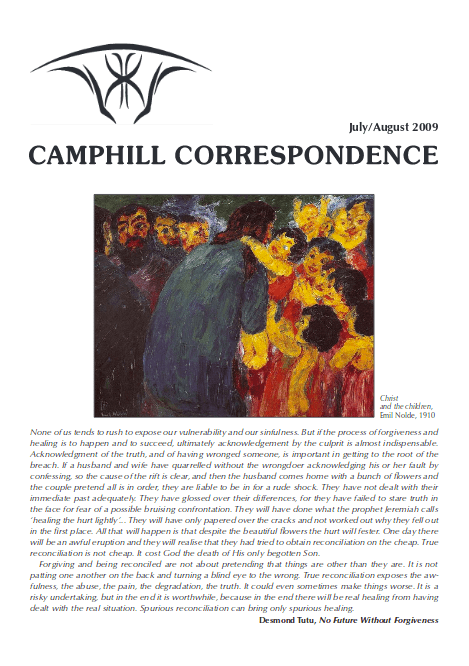 Camphill Correspondence July/August 2009