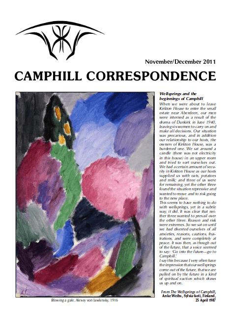 Camphill Correspondence November/December 2011