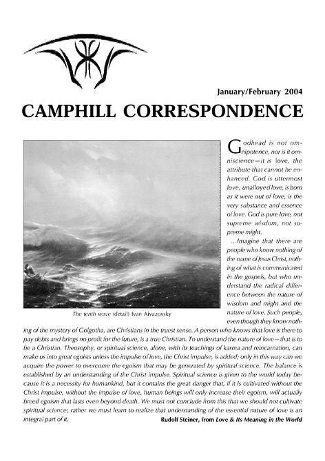 Camphill Correspondence January/February 2004
