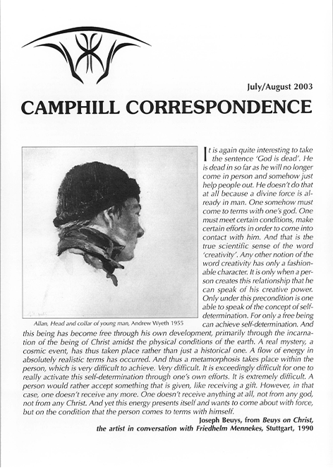 Camphill Correspondence July/August 2003