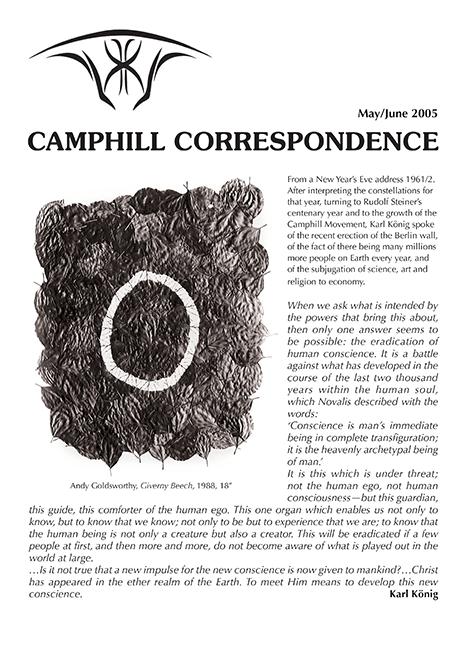 Camphill Correspondence May/June 2005