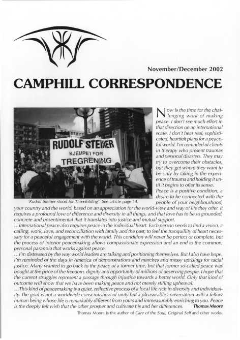 Camphill Correspondence November/December 2002