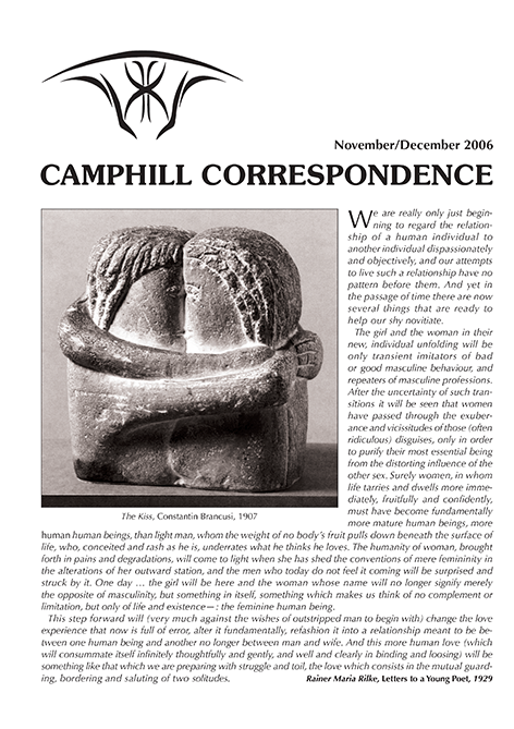 Camphill Correspondence November/December 2006