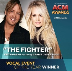 Keith Urban and Carrie Underwood win Vocal Event of the Year at 2018 ACMs