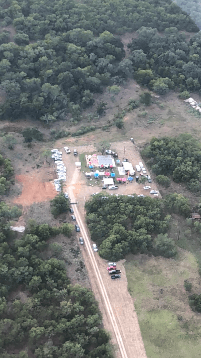Camp House Concerts Aerial View.