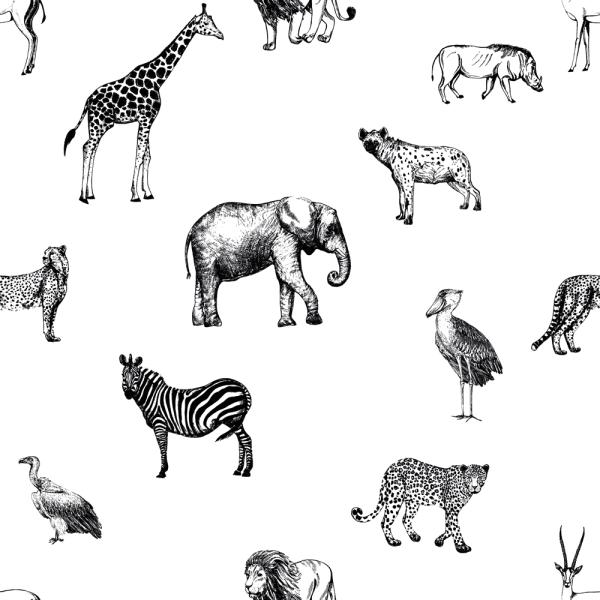 Selbstklebende Möbelfolie Zootiere