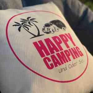 Happy Camping Kissen