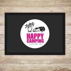Happy Camping Fußmatte