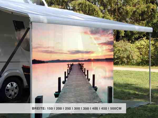 Camping Sichtschutz Motiv Seebrücke