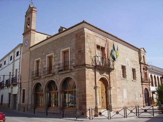 Ayuntamiento de Villanueva de la Reina. Foto: Manuel Rodríguez.