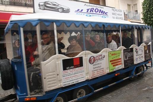 El tren de Navidad en Andújar se ha consolidado como atractivo navideño.