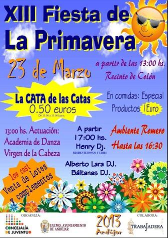 Cartel de la Fiesta de la Primavera de Andújar.