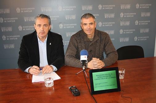 Los Concejales de Medio Ambiente y Desarrollo Local de Andújar.