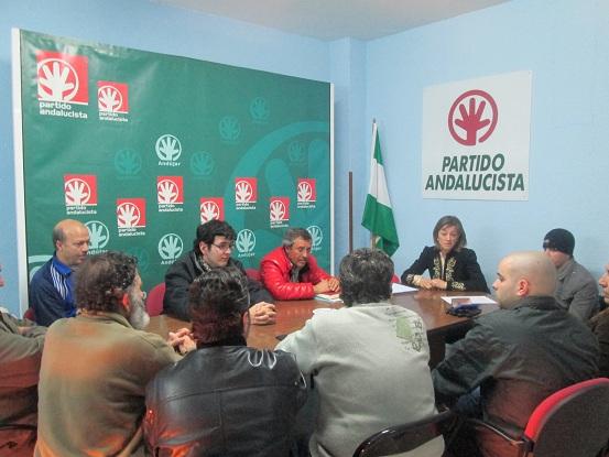 Reunión del PA con la plataforma de desempleados de Andújar.