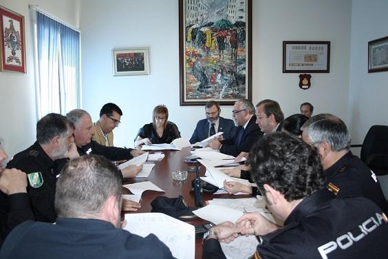 Reunión de la Junta Local de Seguridad en Andújar.